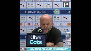 """OM-Lorient : """"Il faut continuer sur cette voie"""" (Sampaoli)"""