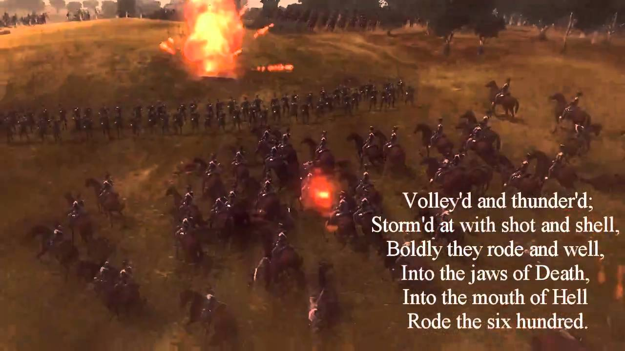The Light Brigade Poem Charge Of The Light Brigade By