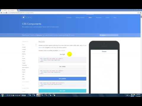 Creating Mobile app using HTML5, CSS3, JS - Ionic Framework part I