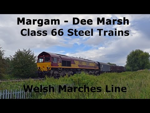 Margam - Dee Marsh Class 66 Steel Trains - Welsh Marches Line