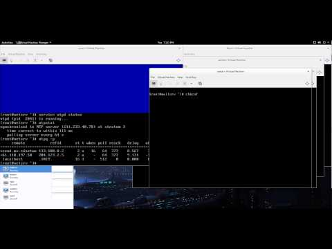 Configuring an NTP server on CentOS