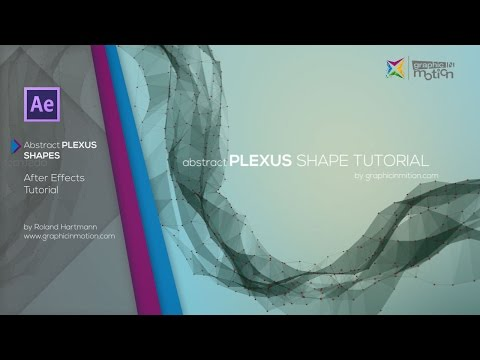 After Effects Tutorial - Abstract Plexus Shape