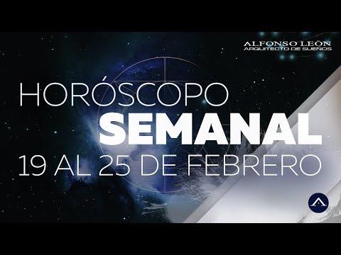 HORÓSCOPO SEMANAL | 19 AL 25 DE FEBRERO | ALFONSO LEÓN ARQUITECTO DE SUEÑOS
