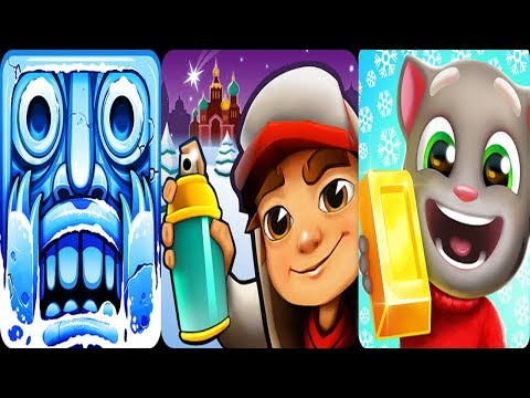 Subway Surfers Saint Petersburg vs Temple Run 2 vs Talking Tom Gold Run Winter Gameplay 2018
