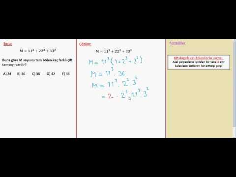 Sayılar Pozitif Bölen Sayısı   1   8 Z   Soru 2 V