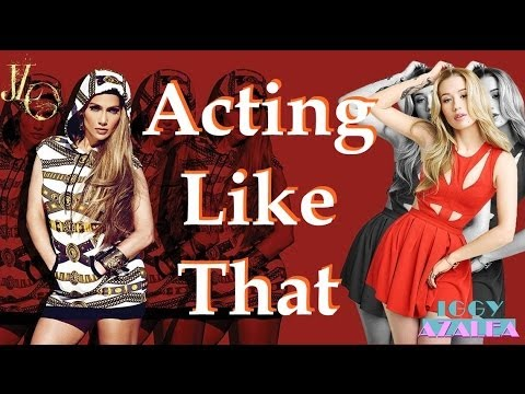 Jennifer Lopez feat Iggy Azalea - Acting Like That (Lyrics On Screen HQ) OFFICIAL AUDIO (from AKA)