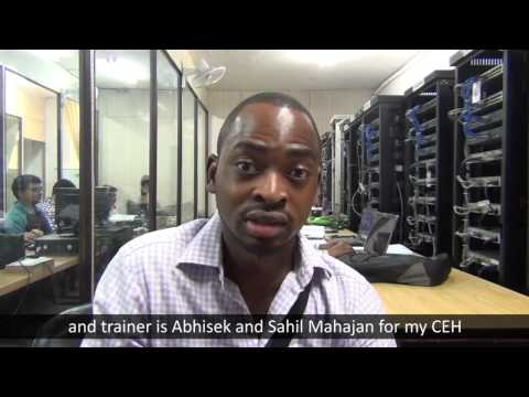 Mr. Babatunde from Nigeria after CCNA and Ethical Hacking CEH course Training