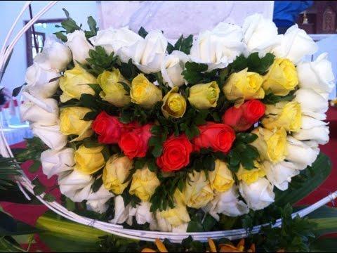 nghệ thuật cắm hoa - hoa hội nghị - hoa thánh lễ đỉnh cao (art of flower arrangement peak)