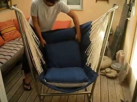 Montaje de un sillon colgante youtube - Como tapizar un sillon ...