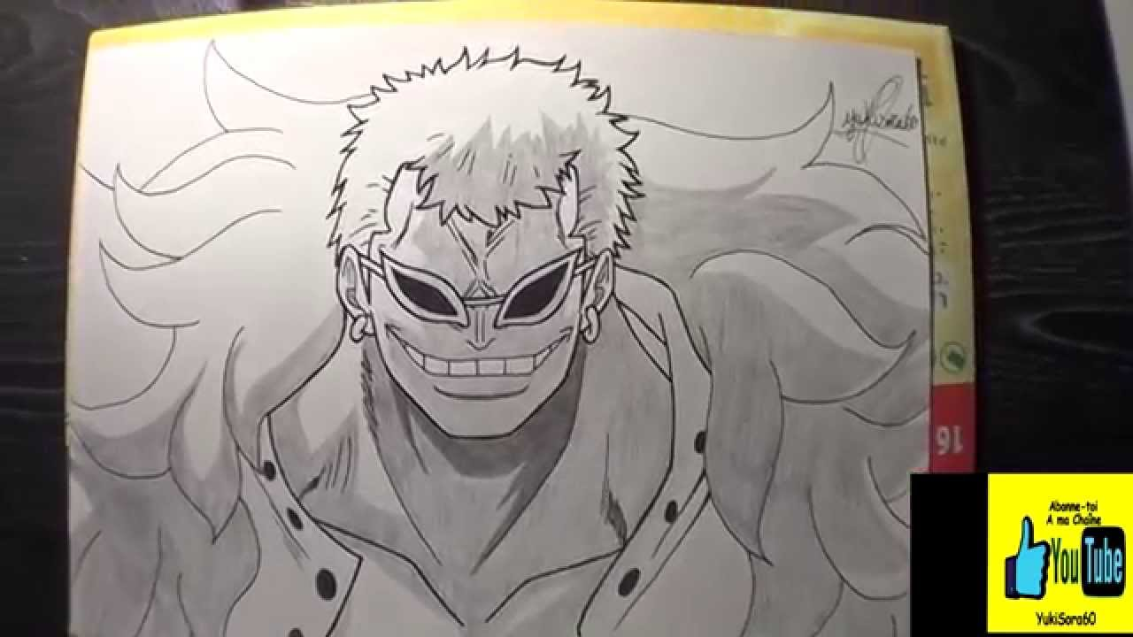 One Piece Dessin De Doflamingo ワンピース Youtube