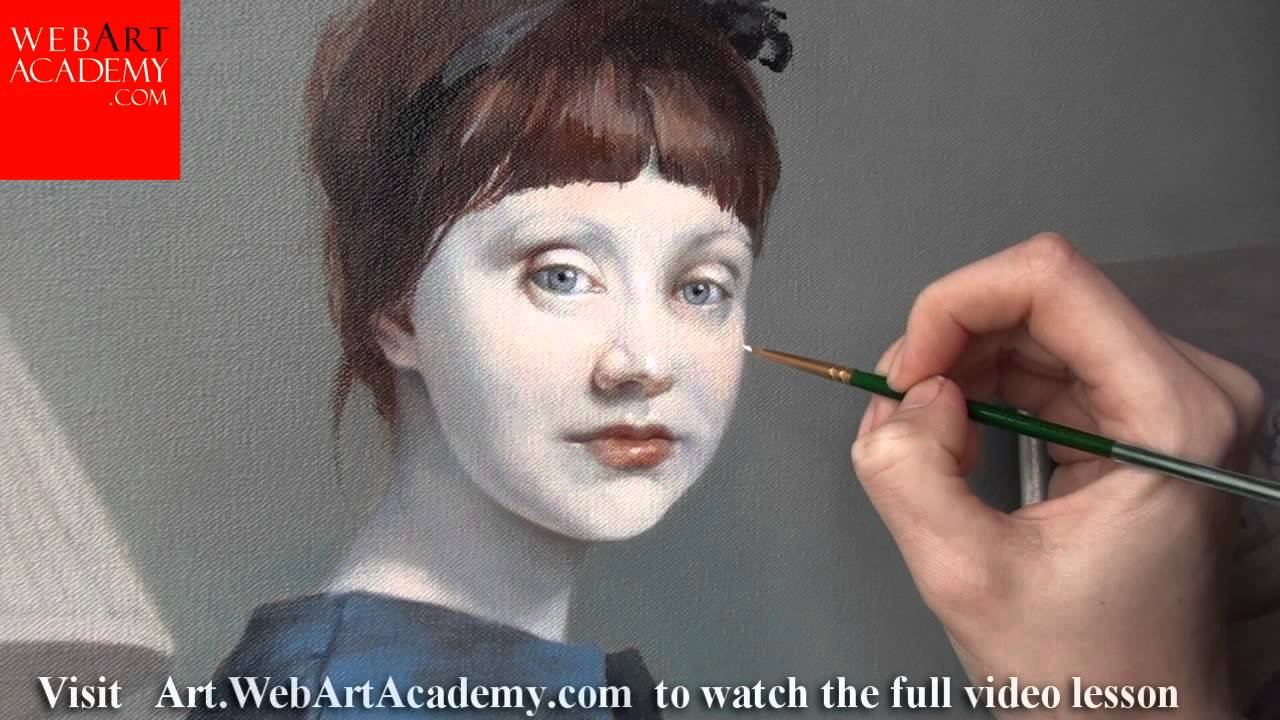 Oil Painting Demonstration Portrait Painting Youtube