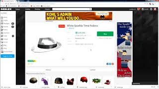 e65dcaf8e62 ROBLOX LABOR DAY SALE] HOW TO PROFIT! WHITE SPARKLE TIME FEDORA?