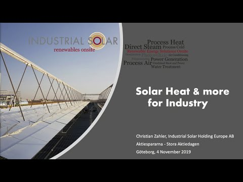 Solar Heat & more for Industry | Industrial Solar Holding Europe AB