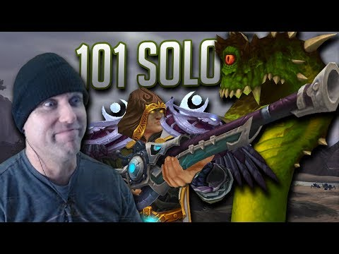 GOING SOLO - Lvl 101 Hunter Twink Solo Eye of Azshara Dungeon - Legion 7.2.5