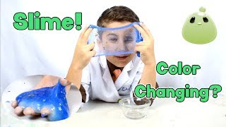 Can slime color change? The science of slime and color changing -JoJo's Science Show