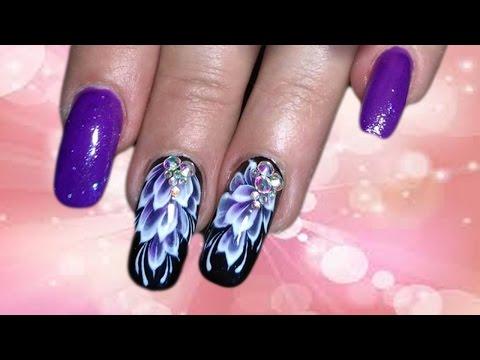💓 Китайская роспись на черном 💓 Топ удивительный дизайн ногтей 💓 Top Nail design manicure