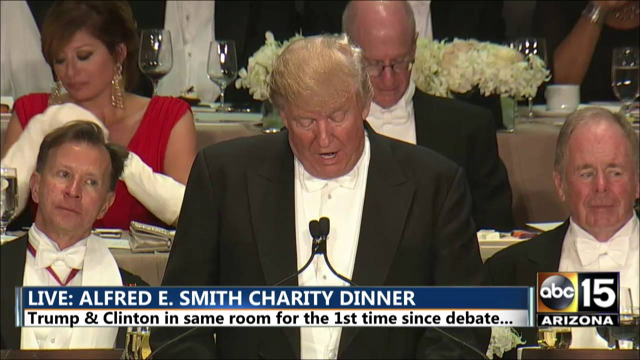 Donald Trump: Hillary Clinton said 'Pardon Me' - Alfred E. Smith dinner