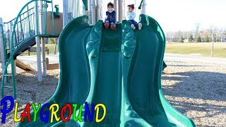 Outdoor Playground fun for kids with giant slides!