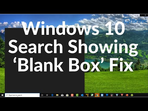 Windows 10 Search Showing 'Blank Box' Fix