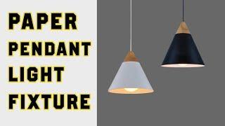 Make Paper Dining Room Pendant Hanging Ceiling Light Fixture