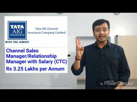 TATA AIG Jobs- Channel Sales Manager नौकरी एव प्रशिक्षण Insurance Company