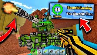 MASSIVE BATTLE TANKS + MAX LEVEL 65!! | Pixel Gun 3D - New Update 17.0.0 [Review]
