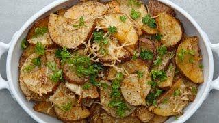 Roasted Garlic Parmesan Potatoes