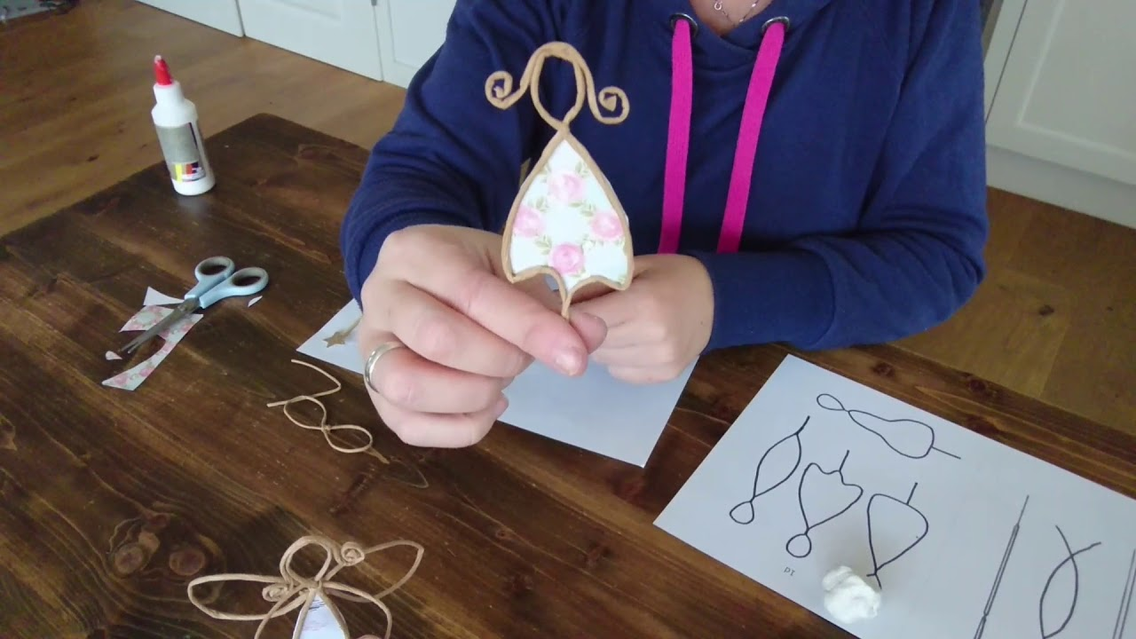 papierdraht engel basteln diy tutorial youtube