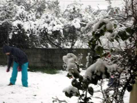 neve a Olbia 12 febbraio 2012.AVI
