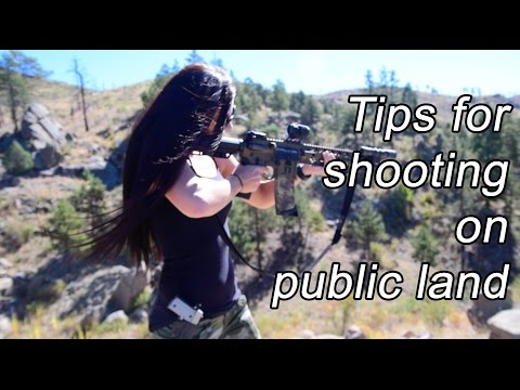 Tips for shooting on public land - responsible outdoor shooting etiquette