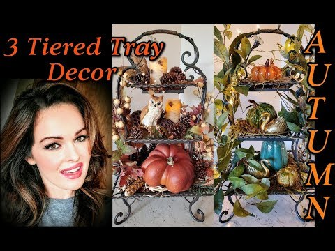 3 Tiered Tray Fall Decor for Autumn!