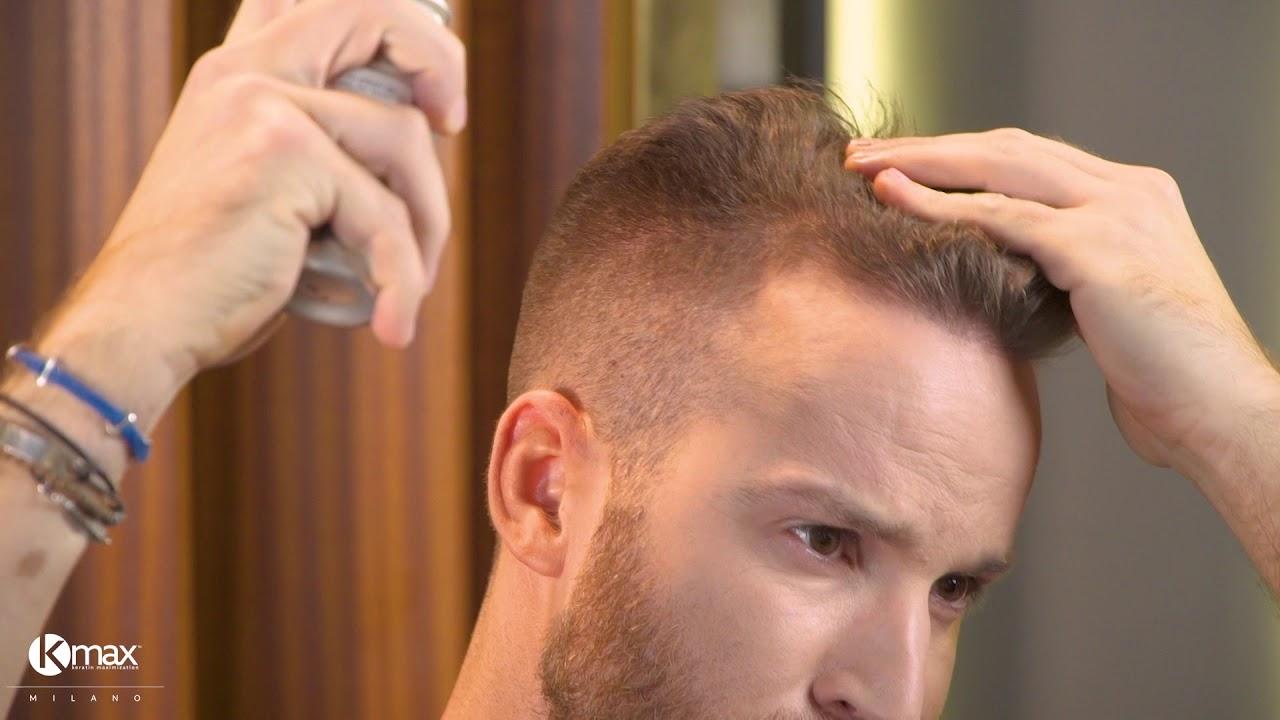 Kmax Tutorial - Come mascherare il diradamento dei capelli con Kmax Color  Spray 1508b6562270
