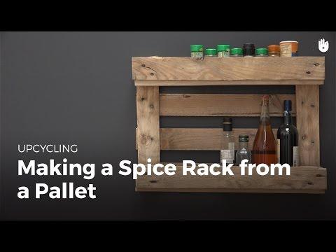 Pallet Ideas: Make a Spice Rack   Upcycling
