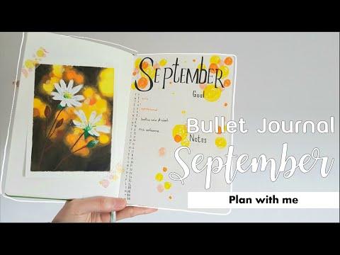 Bullet Journal แพลนเนอร์ทำเองเดือนกันยายน 2020 | Plan with me - เซ็ตweekly ด้วย Alastair method