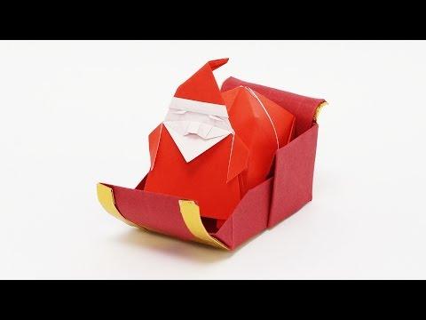 Origami Santa's Sleigh-Jo Nakashima