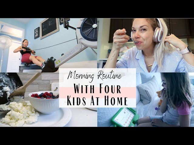 Morning Routine With Four Kids At Home | Staying Connected | Distance Learning