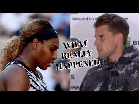 Serena Williams Didn't Kick Dominic Thiem Out Of French Open Press