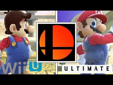 Super Smash Bros: Wii U VS Ultimate Comparison (Mario Trailer)