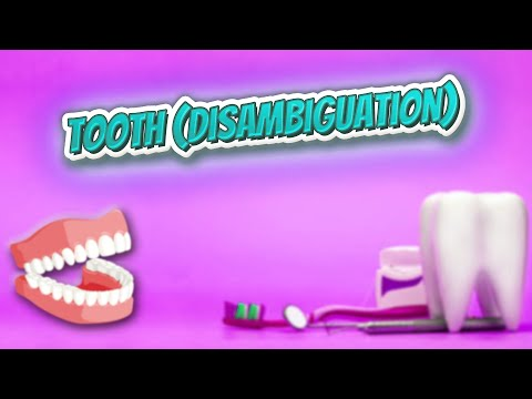 Tooth disambiguation - Everything Dentistry 🍎👄🔊✅