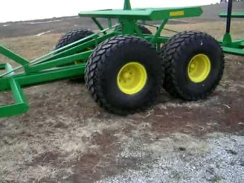 Homemade, round bale trailer - YouTube