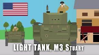 WWII Tanks: Light Tank M3 'Stuart'