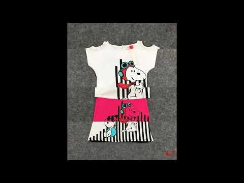 set váy snoopy | bán buôn quần áo trẻ em toàn quốc thương hiệu HTKIDS