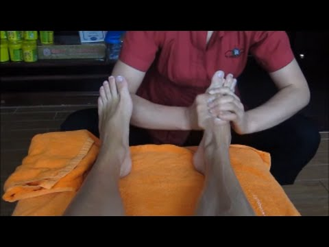 Chinese Foot and Leg Massage - ASMR massage video