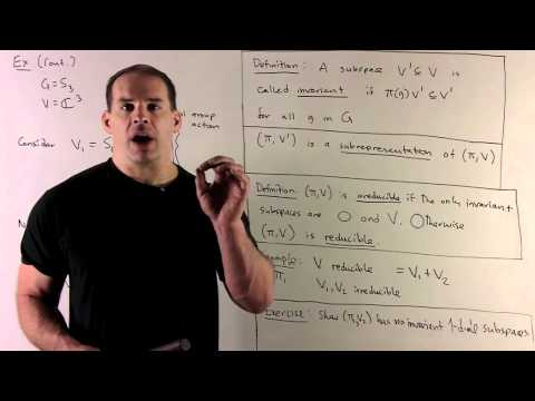 RT1: Representation Theory Basics