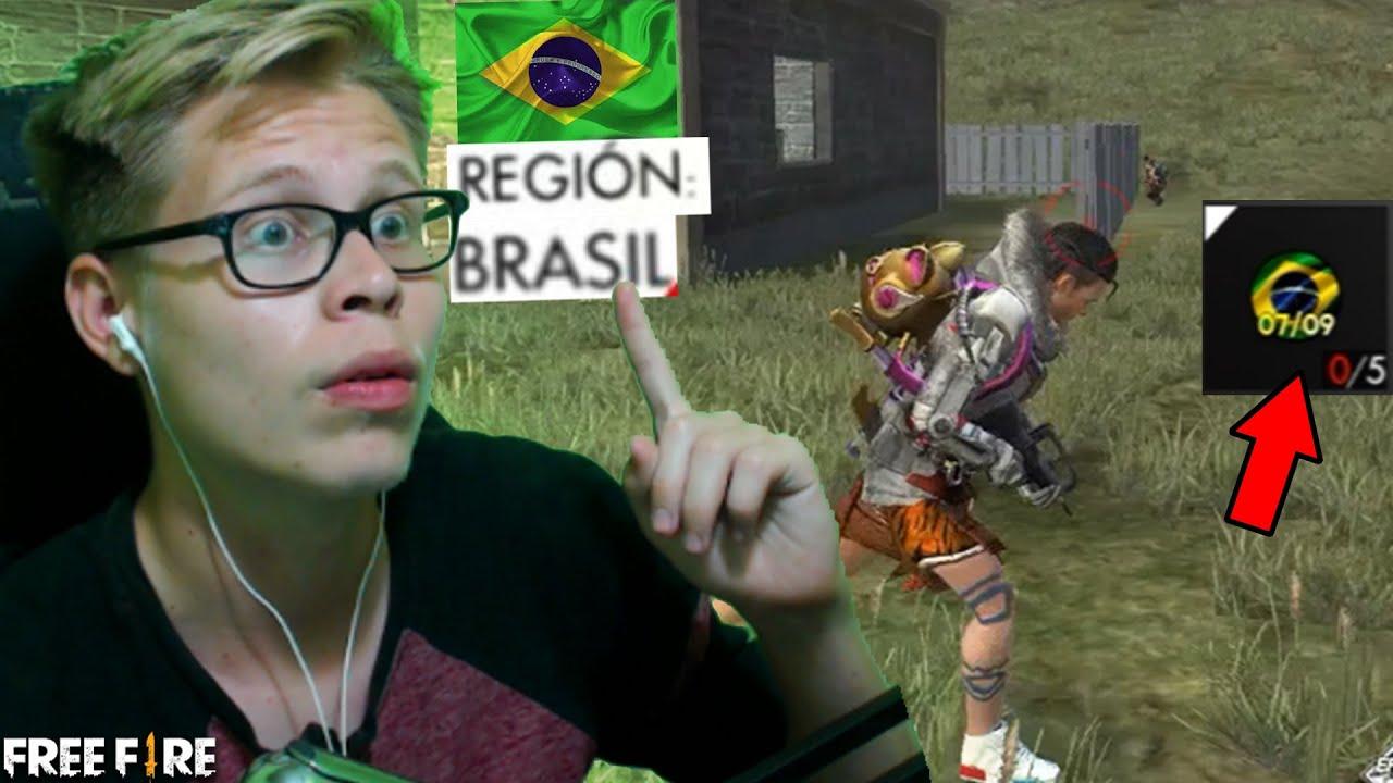 ME CAMBIAN de REGIÓN a BRASIL en mi CUENTA de FREE FIRE y MIRA ESTO...