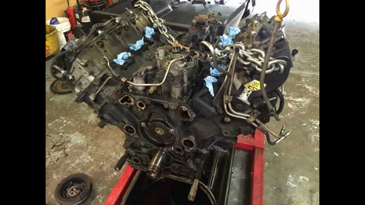 Ford 6.0 Liter Powerstroke Diesel Engine Removal Pictures ...