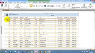 Access 2010 für's Büro Part 36 Bericht bearbeiten und für das Drucken weiter anpassen