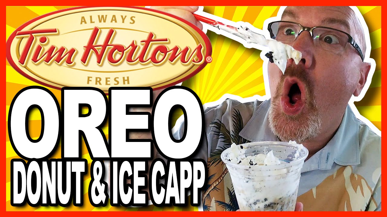 Tim Horton's Oreo Donut and Oreo Ice Capp Review WARNING: BRAIN FREEZE!