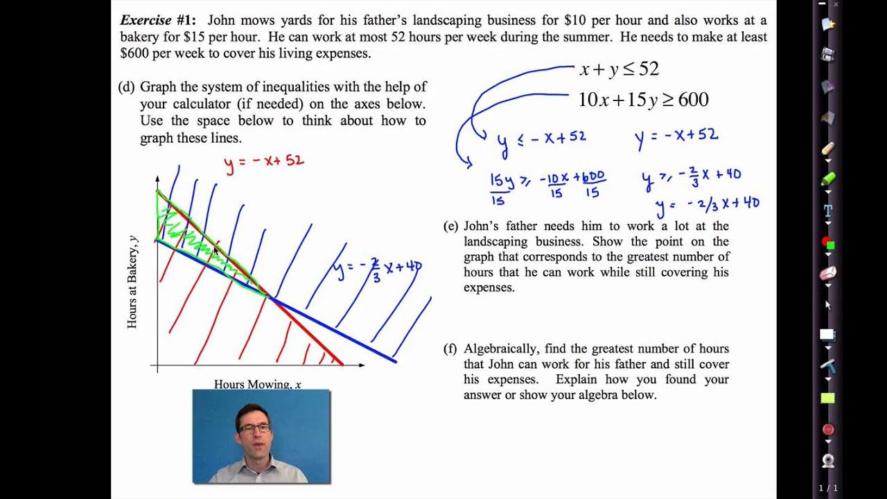 Common Core Algebra I Unit 5 Lesson 8deling With