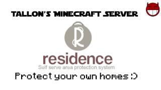 Minecraft Server  - Residence Plugin - Use it :D